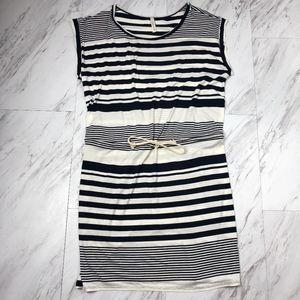 Striped Drawstring Summer Dress Size Large NWOT